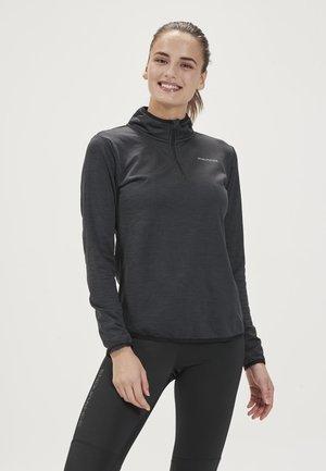 VIRONIC W WAFFLE MIDLAYER - Long sleeved top - black
