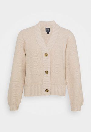 TEXTURED ABBREVIATED CARDIGAN - Gilet - marshmallow