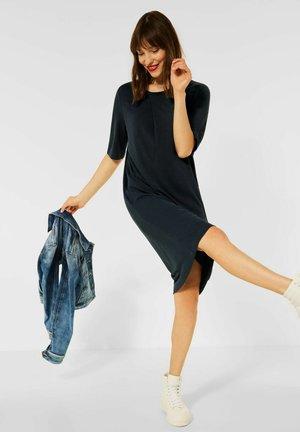 KNIELANGES KLEID IN UNIFARBE - Day dress - schwarz