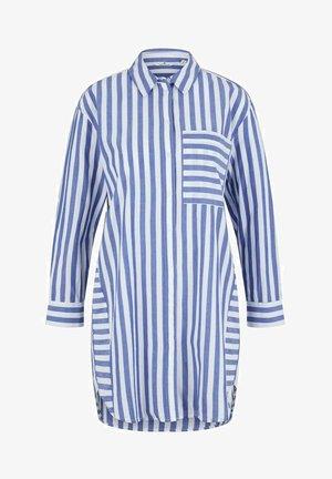 MIT STREIFEN - Camisa - blue offwhite vertical stripe