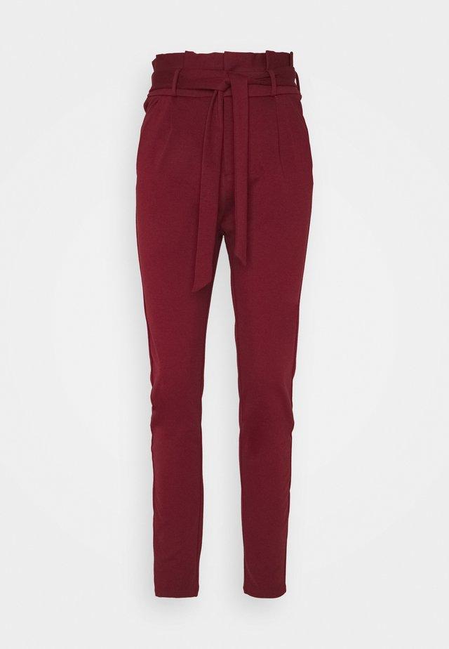 VMEVA PAPERBAG PANT - Bukse - cabernet