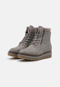 Tamaris - Platform ankle boots - grey matt - 2