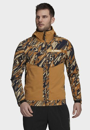 Soft shell jacket - brown