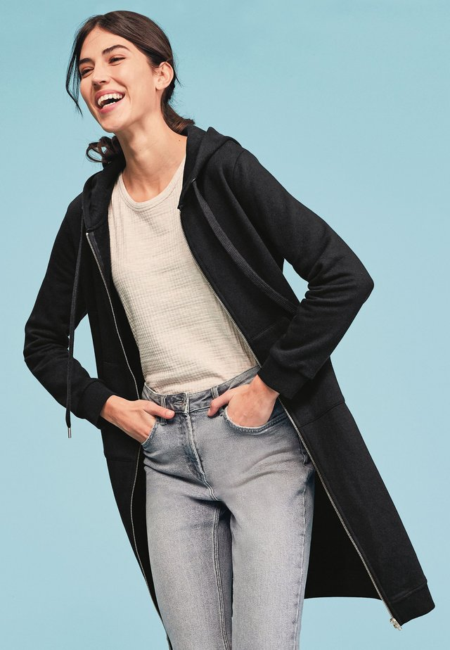 Mikina na zip - black