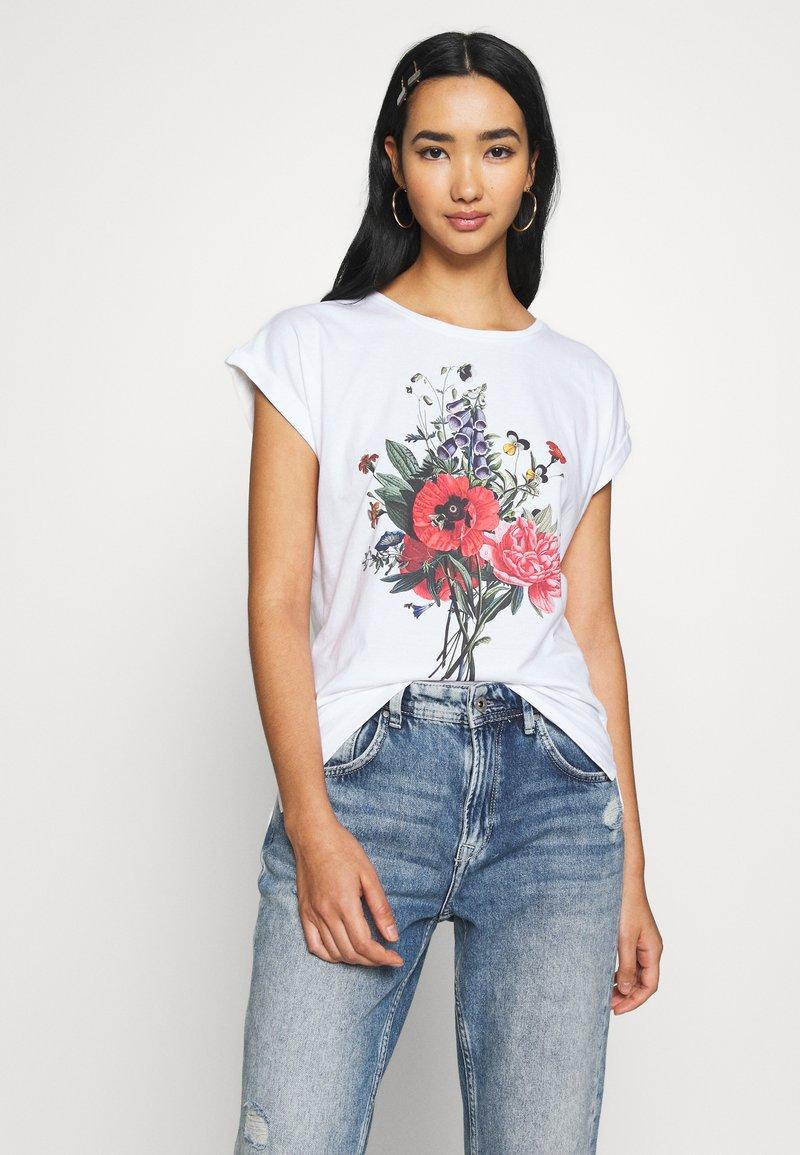 Dedicated - VISBY DO NO HARM - Print T-shirt - white