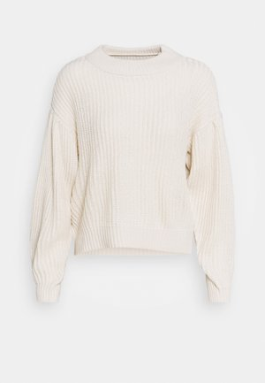 VMFURN LS BALLOON O-NECK  - Strickpullover - birch