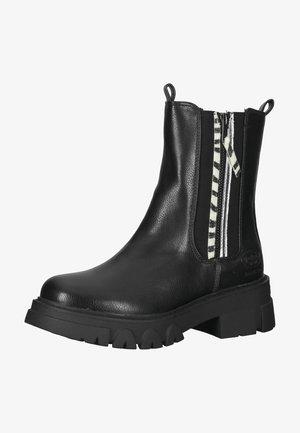 Platform ankle boots - schwarz 100