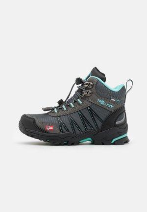 KIDS TROLLTUNGA MID UNISEX - Hiking shoes - anthracite/mint