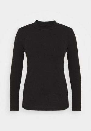 ALLY HIGH NECK - Long sleeved top - black