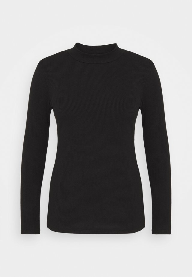 ALLY HIGH NECK - Longsleeve - black