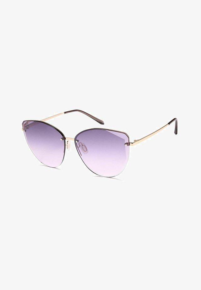 Sunglasses - gestell gold / glas violett verlauf