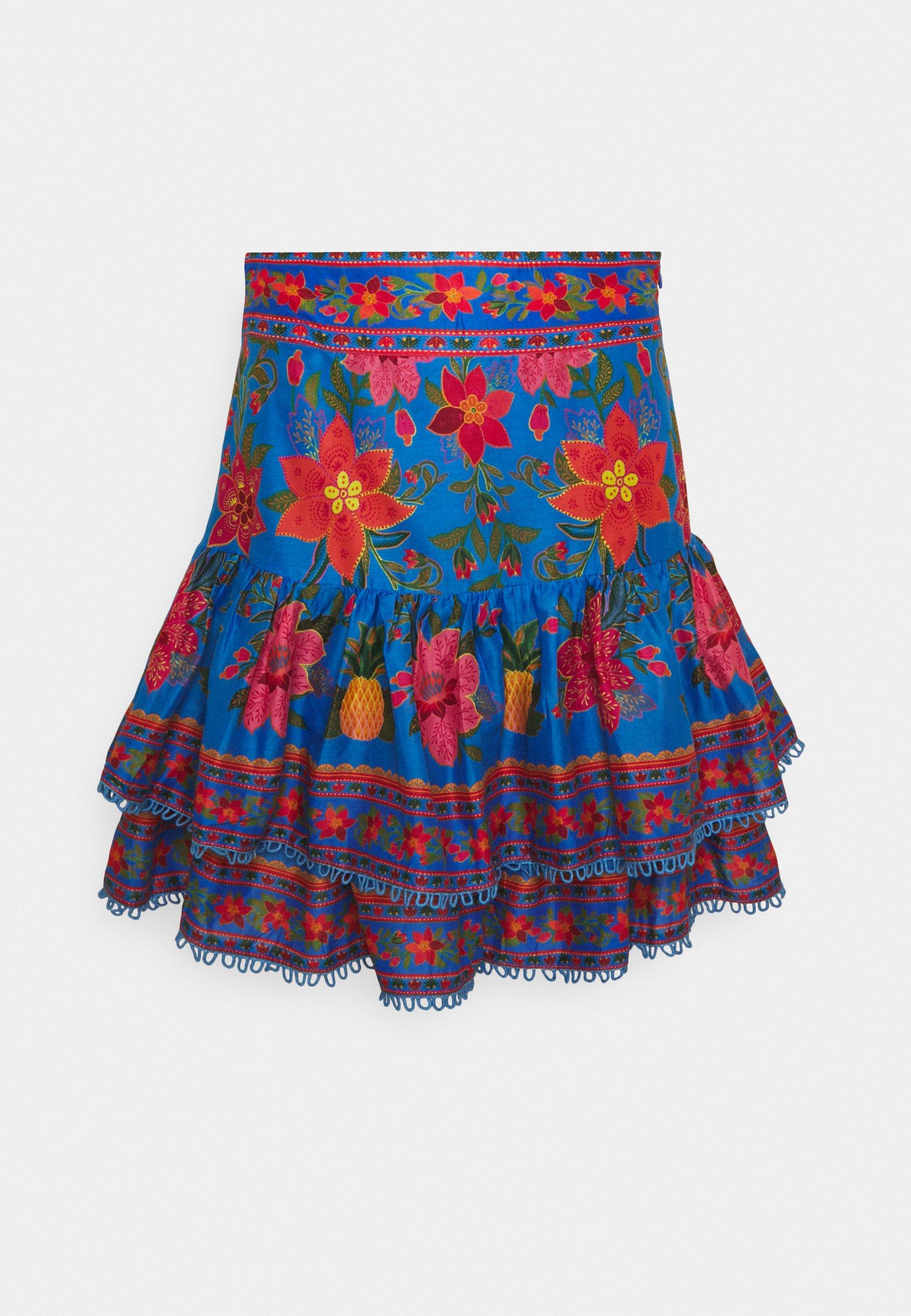 Women TROPICAL TAPESTRY MINI SKIRT - Mini skirt