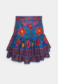 Farm Rio - TROPICAL TAPESTRY MINI SKIRT - Mini skirt - blue - 0