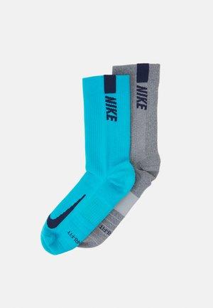 2 PACK UNISEX - Sports socks - light smoke grey/chlorine blue
