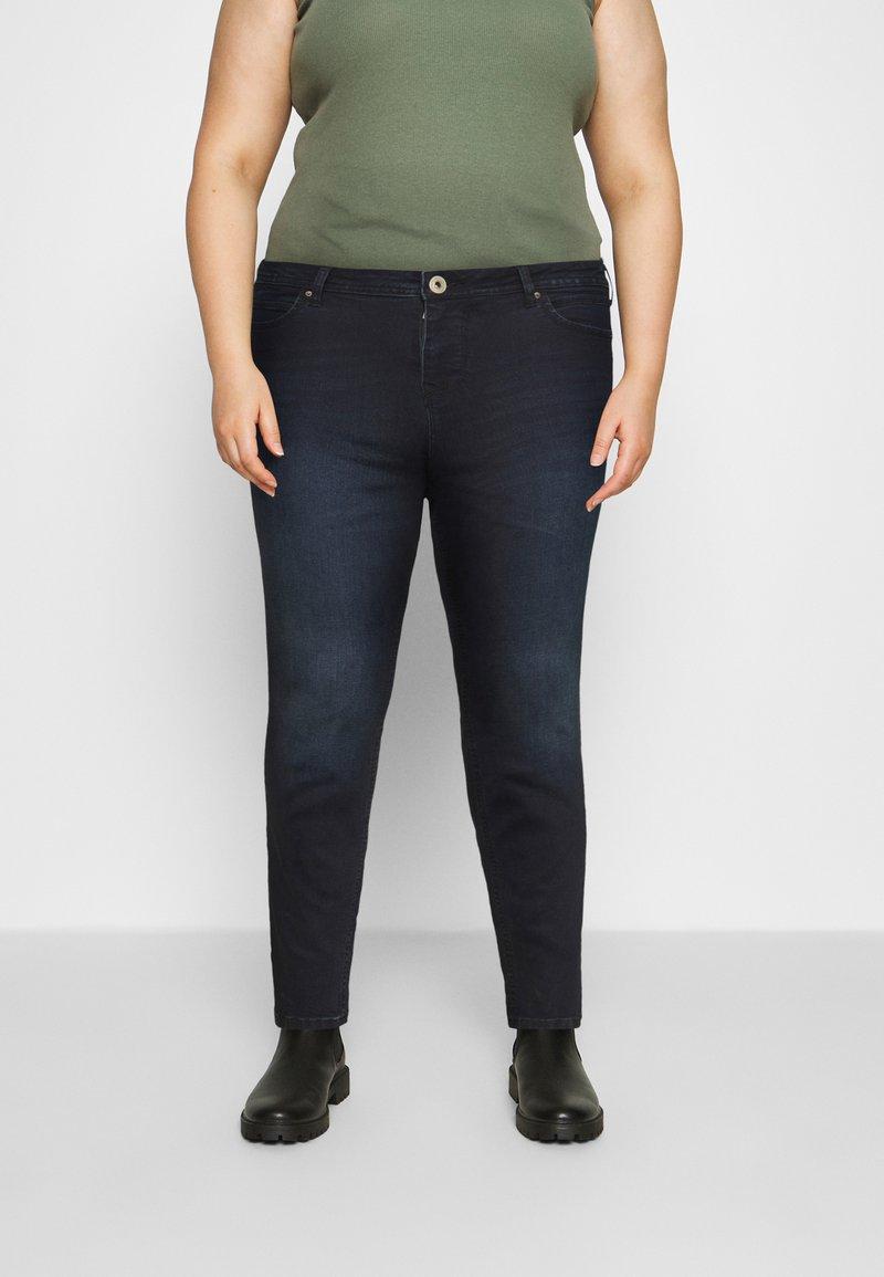 Zizzi - AMY SHAPE - Jeans Skinny Fit - dark blue denim