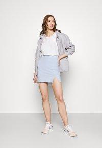 Even&Odd - 2er PACK - Mini skirts basic with slits - Pencil skirt - black/light blue - 0