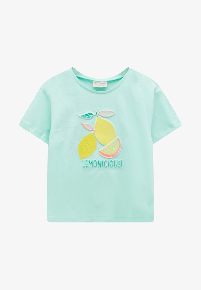 LC Waikiki - Print T-shirt - turquoise