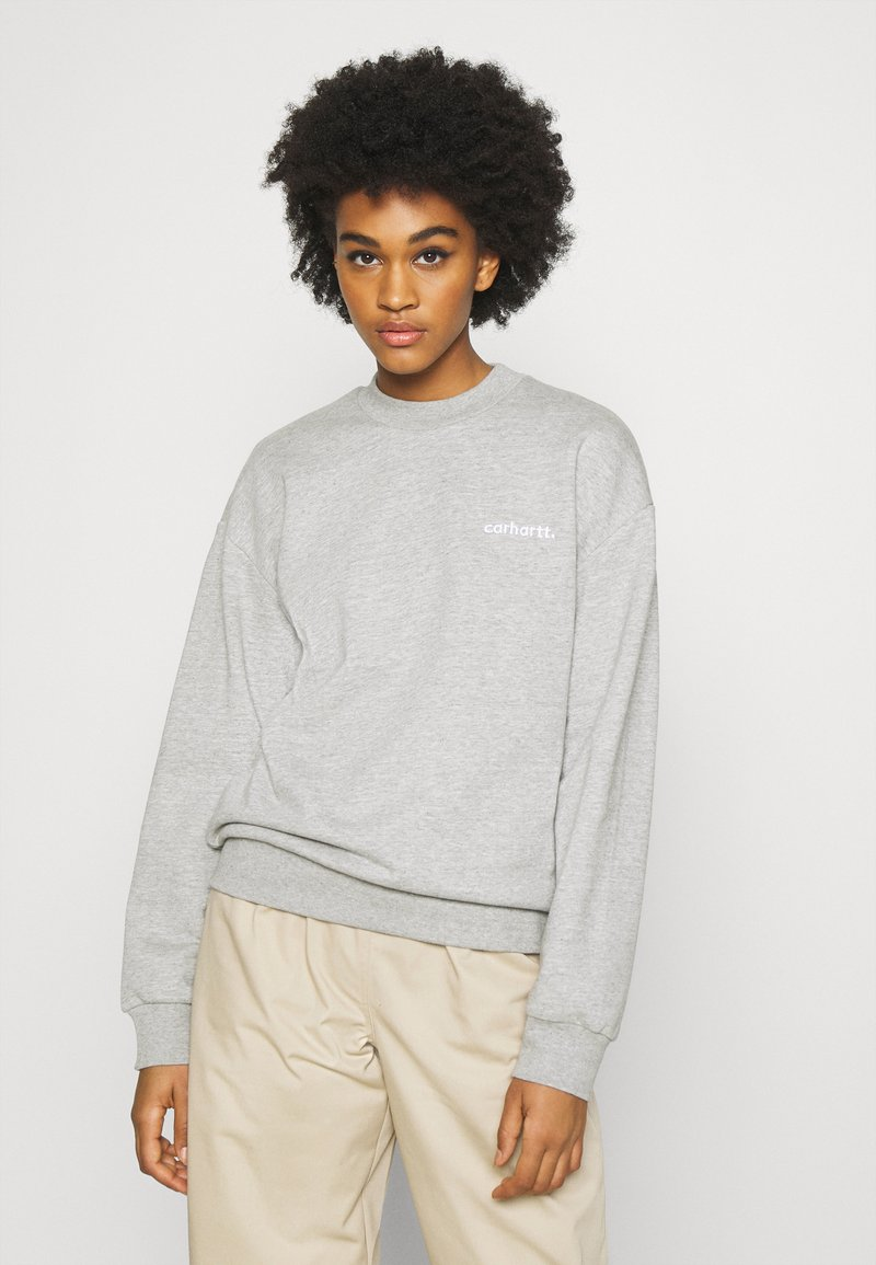 Carhartt WIP - TYPEFACE  - Sweatshirt - grey heather/white