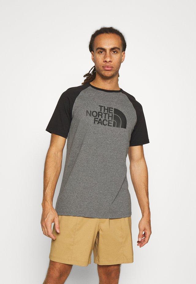 RAGLAN EASY TEE - Print T-shirt - mottled grey
