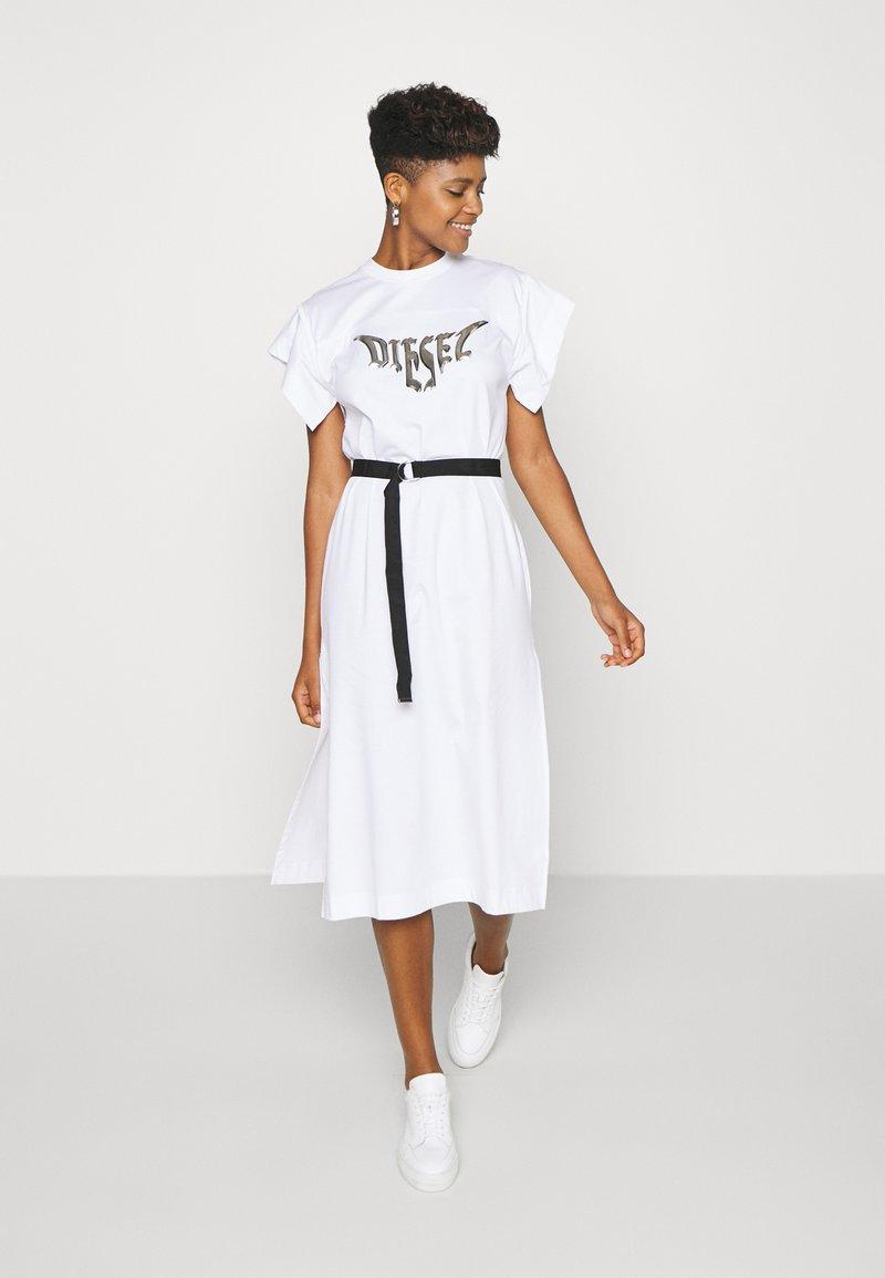 Diesel - D-FLIX-C DRESS - Jersey dress - white