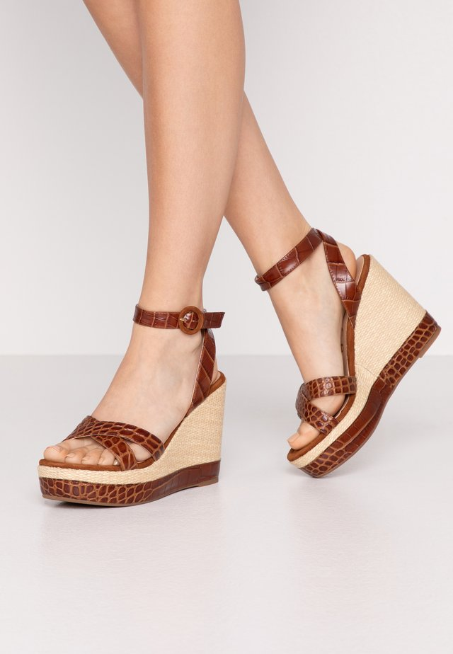 MONTEA - High heeled sandals - saddle