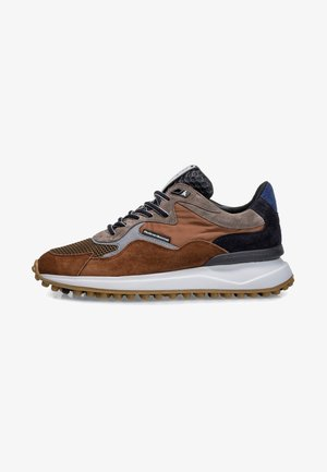 VAN LEER - Sneakers laag - cognac