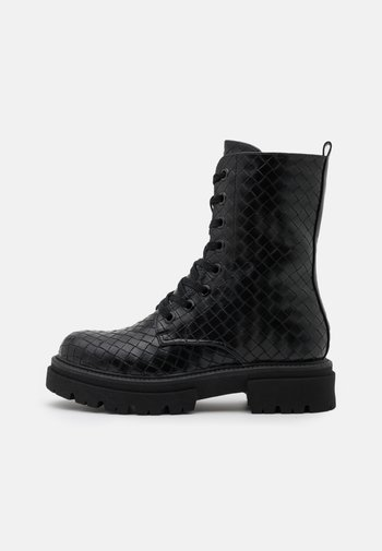MYKEL - Lace-up ankle boots - black