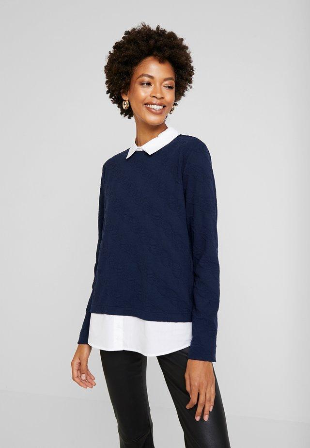 Sweatshirt - navy blue