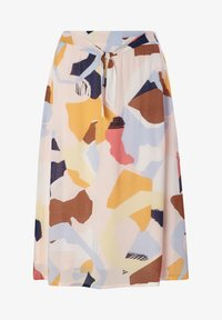 comma casual identity - A-line skirt - blush abstract geo - 4