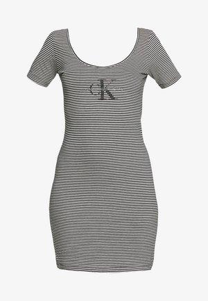 MONOGRAM STRIPE BALLET DRESS - Jerseykjole - bright white/black