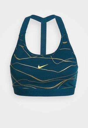 BRA - Sports bra - valerian blue/metallic gold