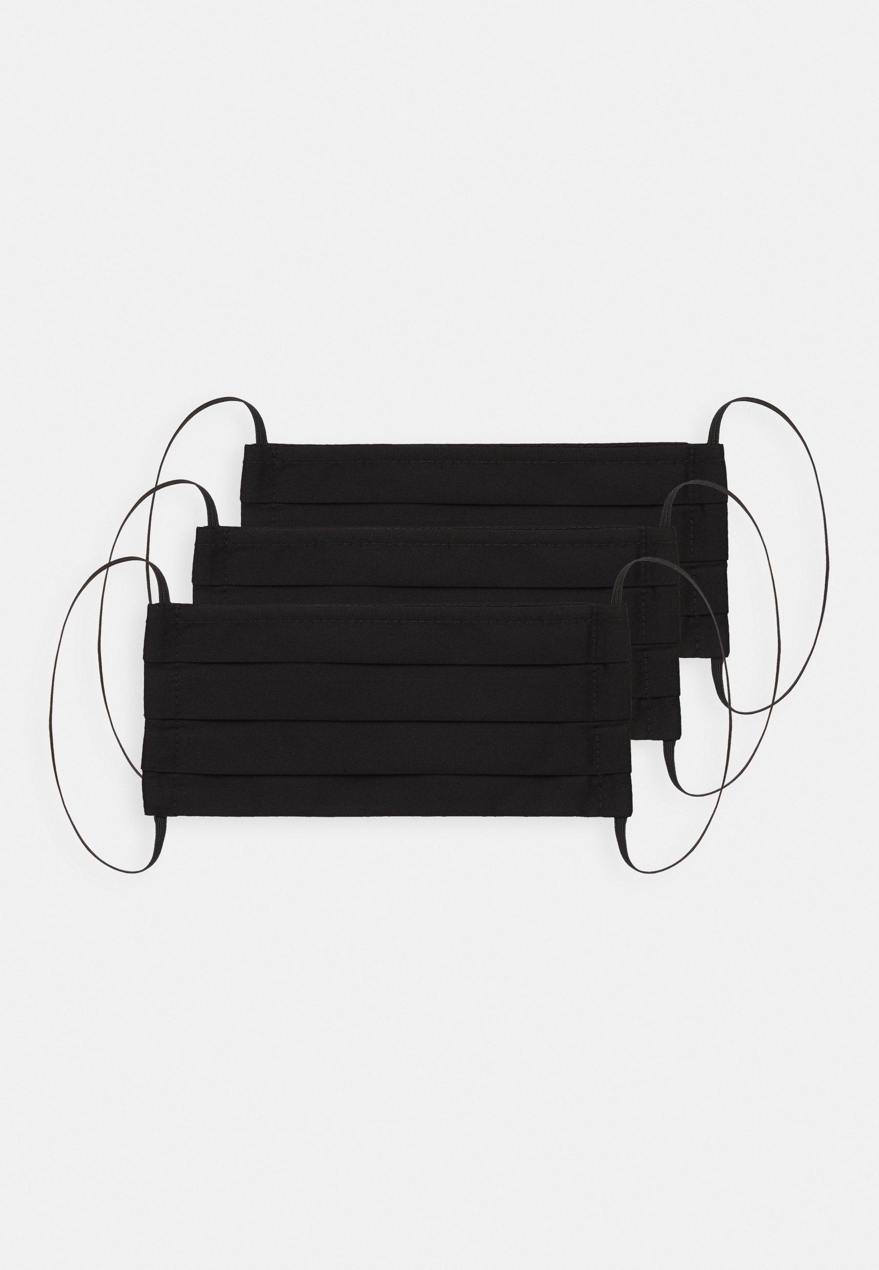 3 PACK - Stoffen mondkapje - Zwart