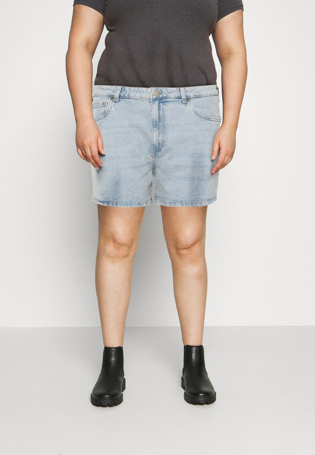 HIGH WAISTED - Short en jean - blue