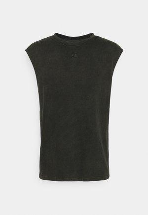 COPYRIGHT TANK - Print T-shirt - black