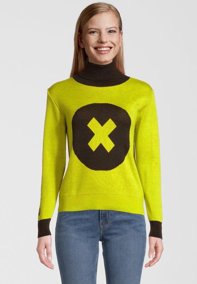 Pullover - gelb/schwarz