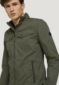TOM TAILOR - BIKER - Light jacket - olive night green - 3
