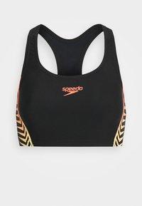 Speedo - SET - Bikini - black/lazer lemon/fluotangerin - 2