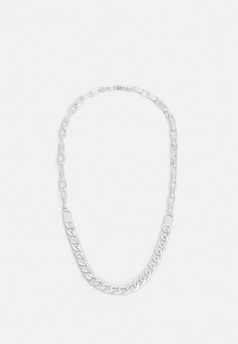 Icon Brand - ALL MIXED UP DIFFERENT CHAINS NECKLACE - Necklace - silver-coloured