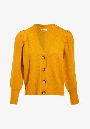 Cardigan - jaune moutarde