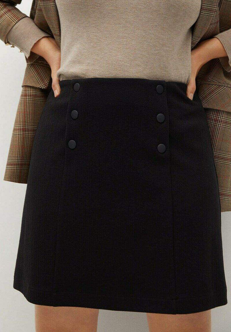 Violeta by Mango - VIVALDI - A-line skirt - schwarz