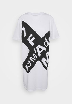 MAXI TEE - Žerzejové šaty - white