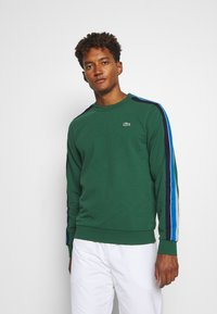 Lacoste Sport - RAINBOW TAPING - Sweatshirt - green/silver chine/utramarine/navy blue/white - 0