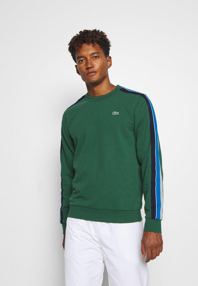Lacoste Sport - RAINBOW TAPING - Sweatshirt - green/silver chine/utramarine/navy blue/white