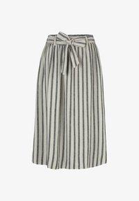 TOM TAILOR DENIM - MIT BINDEGÜRTEL - A-line skirt - black beige stripe - 0