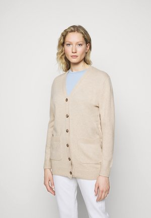 CARDIGAN LONG SLEEVE - Strickjacke - tallow cream