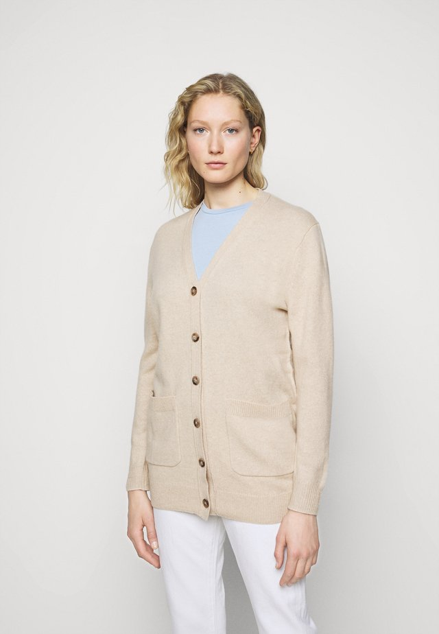 CARDIGAN LONG SLEEVE - Cardigan - tallow cream