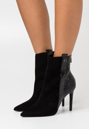 BAIZE - High heeled ankle boots - black