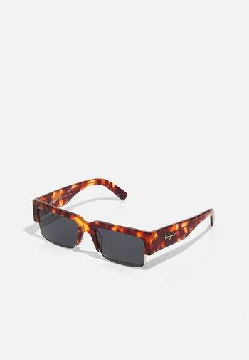 UNISEX - Sunglasses - dark brown/gold-coloured