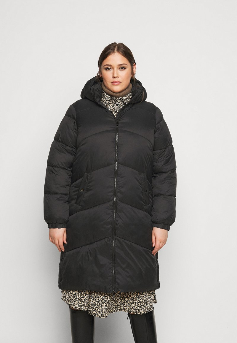 Vero Moda Curve - VMUPSALA LONG JACKET  - Winter coat - black