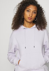 Even&Odd - OVERSIZED HOODIE WITH POCKETS AND SIDE SLITS - Hoodie - lilac - 4